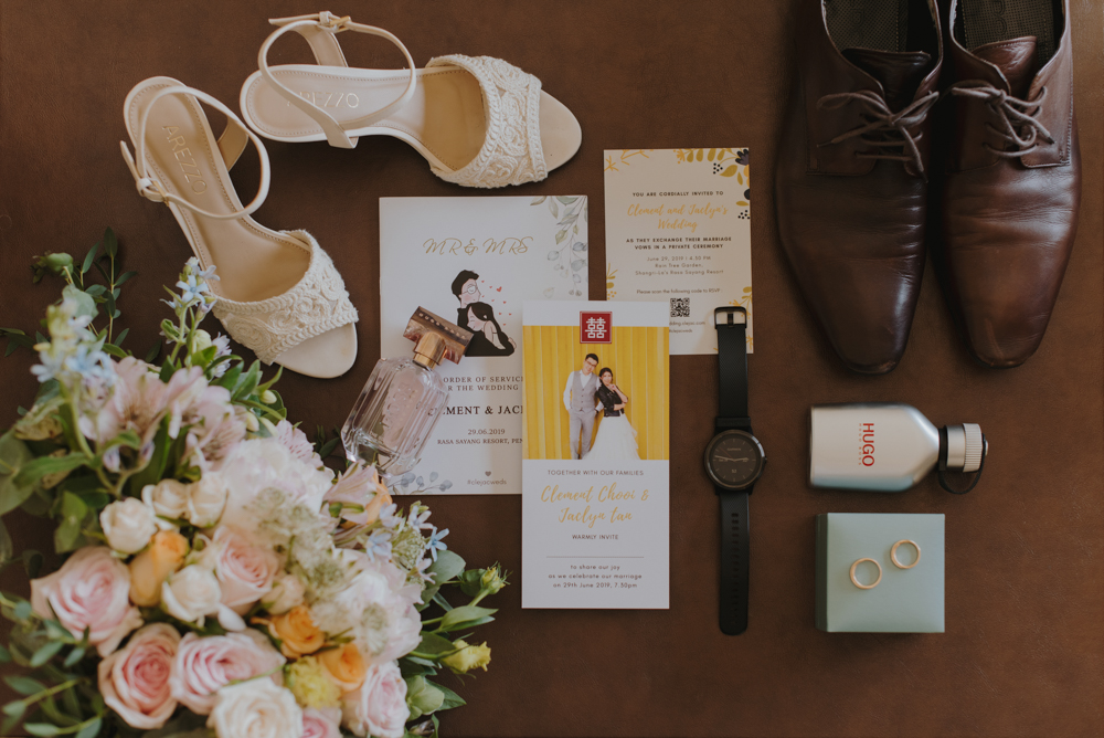 Penang wedding flatlay vampches