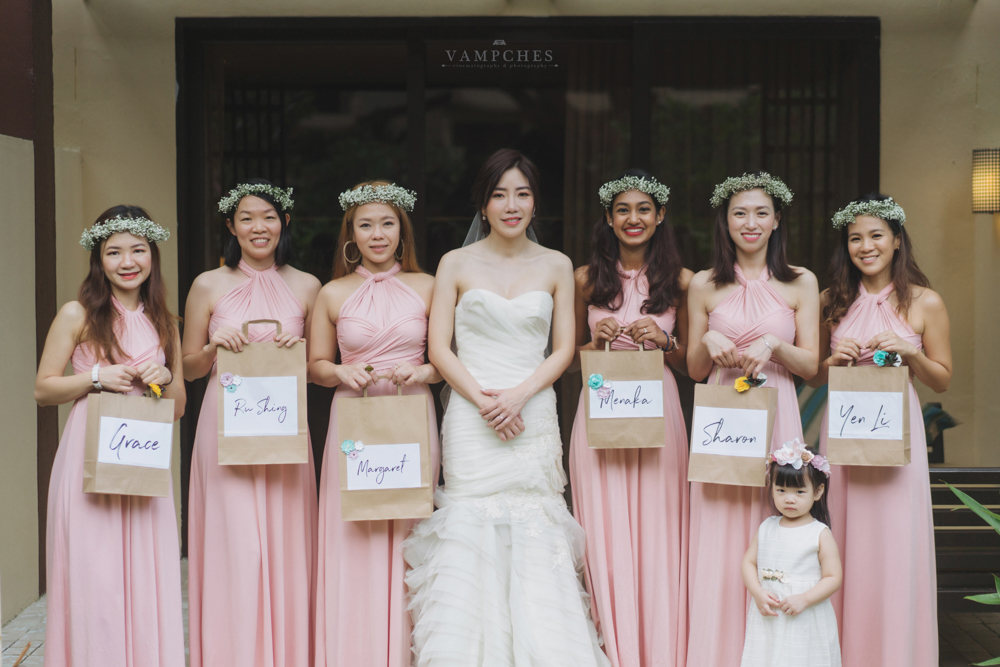 wedding photography penang bridal party
